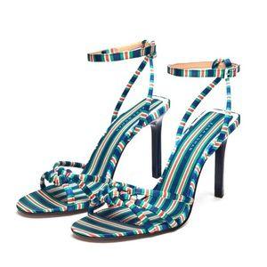 Zara - candy stripe heels